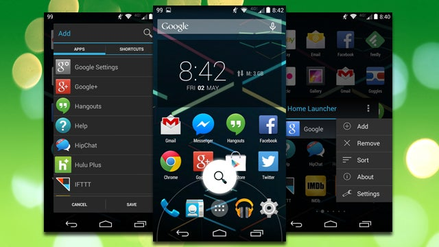 Home Button Launcher Customizes the Google Now Launch Gesture