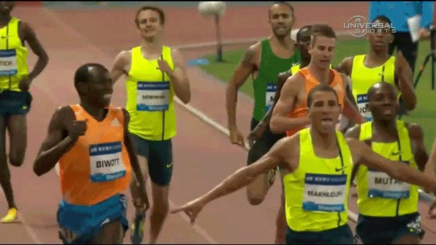 Algerian 800m Runner Loses Race After Celebrating Too Early