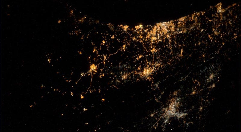Space station astronaut sees missiles exploding on Gaza and Israel