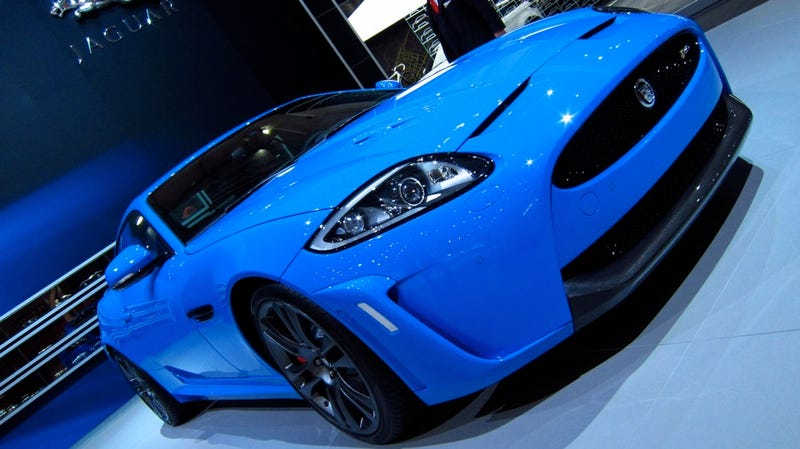 The XKR-S is the bluest Jaguar... in the world