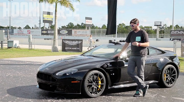 I drove the 2015 Aston Martin V12 Vantage S on a race track