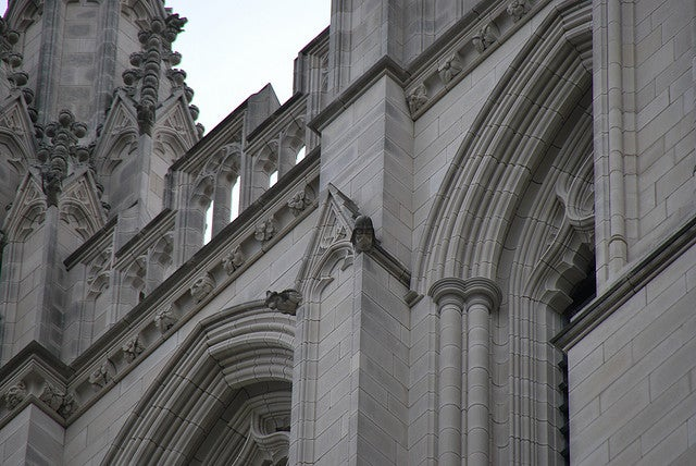 Darth Vader's helmet is hidden on the Washington National Cathedral