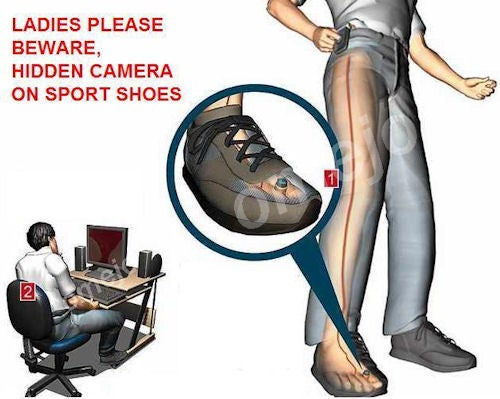 Shoe Spy Camera Will Probably Get You Arrested