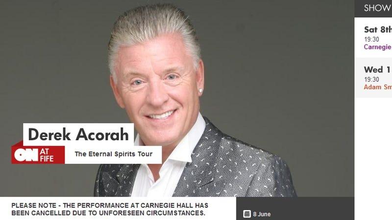 Celebrity Psychic Cancels Show, Blames 'Unforeseen Circumstances'