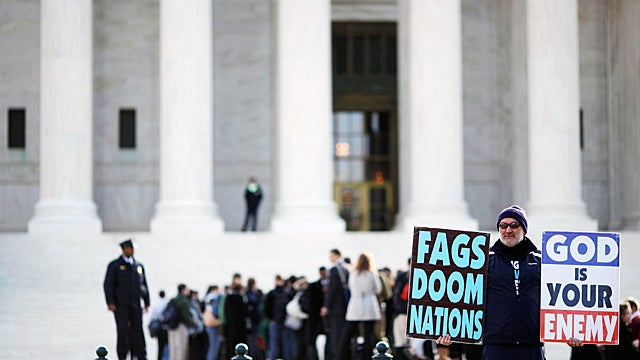 Supreme Court Clears God to Keep on Hating Fags