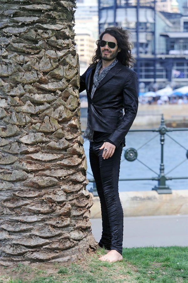 Russell Brand Embraces Wonders Down Under