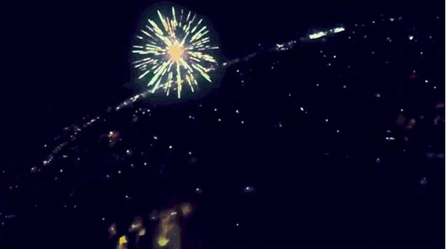 Have You Ever Wondered What It Would Be Like To Fly Through Fireworks?