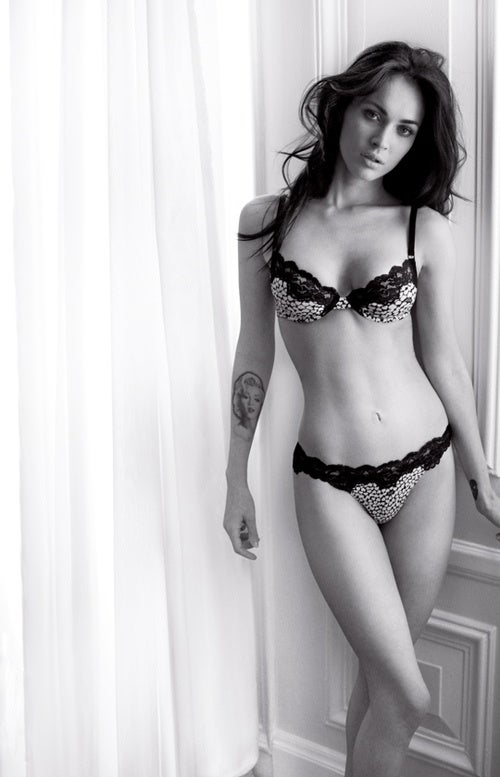 Megan Fox In Her Underwear Again; Crystal Renn Critiques Ignorant Designer