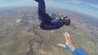 Holy Crap, This Guy Has A Seizure While Skydiving