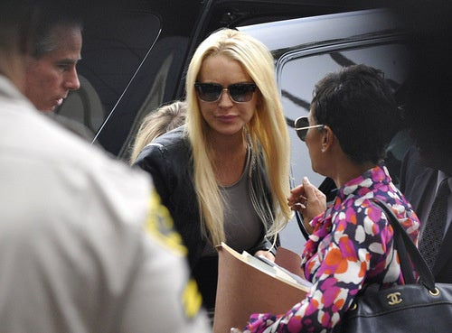 Lindsay Lohan Is in Handcuffs and En Route to Jail