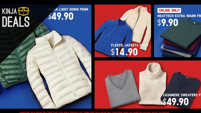 $1 Socks, $5 Gloves, Totally Free Shipping, and More in Uniqlo's Cyber Monday Sale