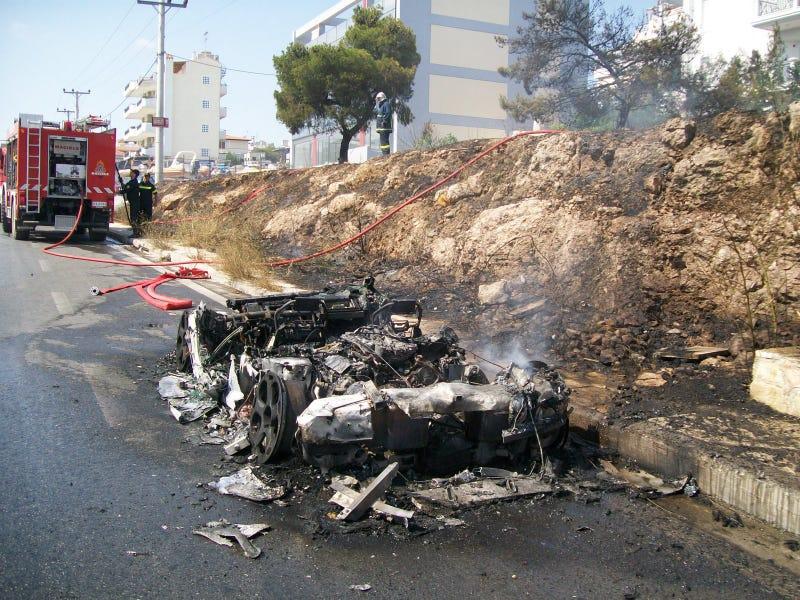 Lamborghini Gallardo Burns In Greece, Ignites Super Car Flame War