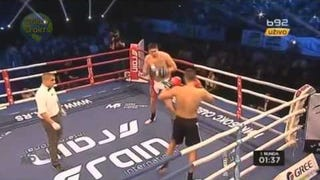 Darko Milicic's First Kickboxing Match Came To A Gross End