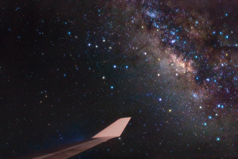 The Milky Way Galaxy, As Seen From a 747