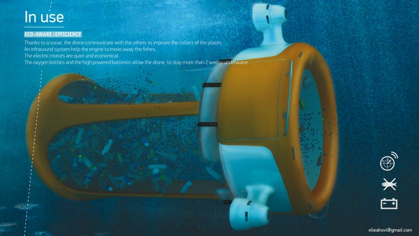 An aquatic robot that devours plastic junk in the ocean