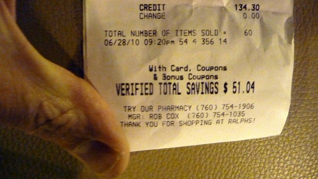 Use Your Grocery Receipt to Trick Yourself Into Saving