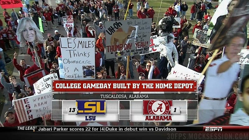 Roll Teabag, Roll: Your LSU-'Bama GameDay Sign Roundup