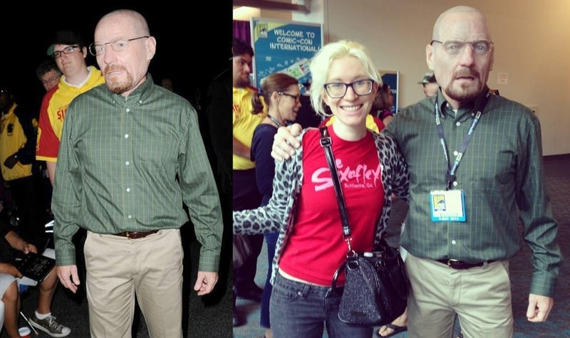 Bryan Cranston Secretly Cosplayed As Walter White at Comic-Con