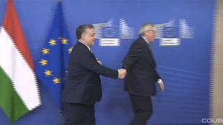 Juncker és Orbán, két szerelmes pár, mindig együtt jár