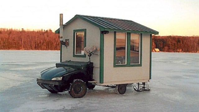 Haven't you ever seen a grand prize winning motorized ice shack?