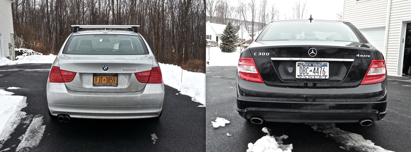 BMW 328i xDrive vs. Mercedes-Benz C300 4Matic: The OppositeLock Comparison