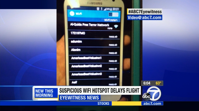 Dumb Wi-Fi Network Name Delays Flight for Four Hours