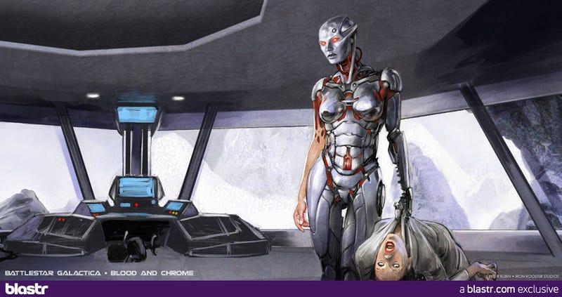 Battlestar Galactica: Blood and Chrome Concept Art