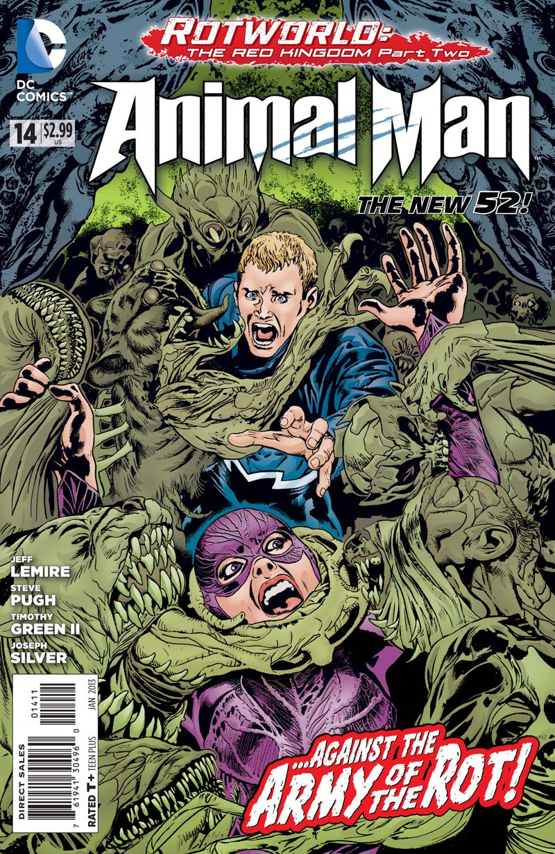A sneak preview of this week's issue of Animal Man