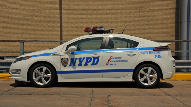New York's finest turn a Chevy Volt into a cop car