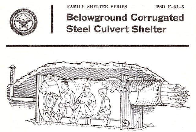 Corrugated Steel Fallout Shelter Protects Against Most Mild Rainstorms, Probably