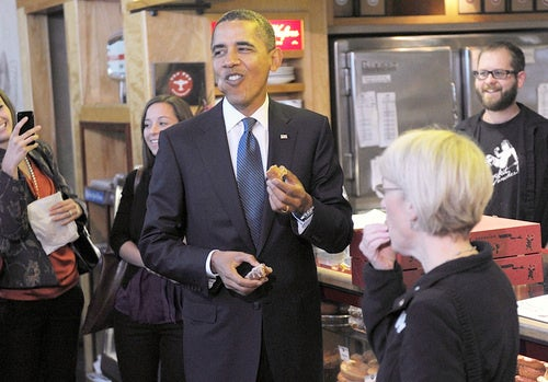 Barack Obama Loves the Hell Out of This Donut