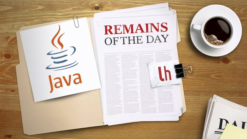 Remains of the Day: New Plugin Exploit Found, Disable Java if You Don't Need It