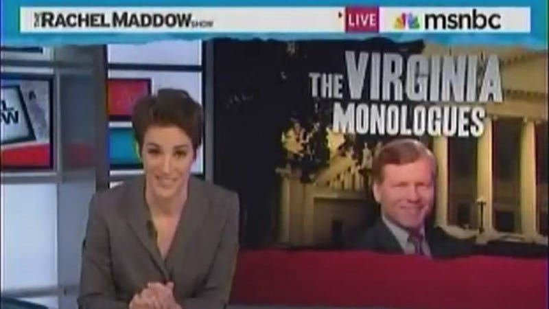 Watch Rachel Maddow Say 'Vaginal' Over and Over and Over Again