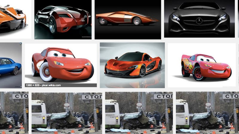 Has Google Images Been Hacked To Show A Russian Car Crash?