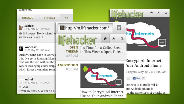 Enjoy Lifehacker On the Go with Our New and Improved Mobile Site