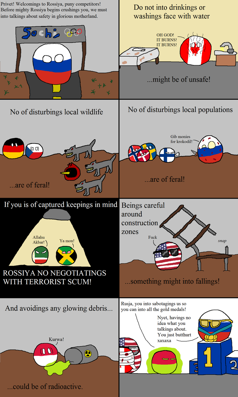 Daily Polandball: Big Trouble in Little Sochi