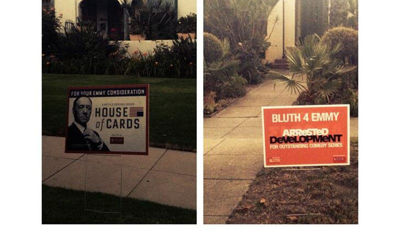 These Emmy Awards Lawn Signs in LA Are Weird