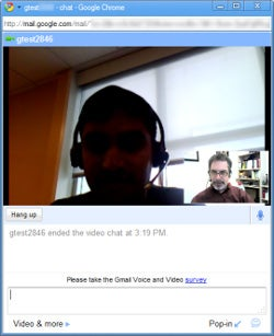 Gmail video chat is disappointerrific