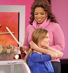Oprah Hacks Hilary's Hair