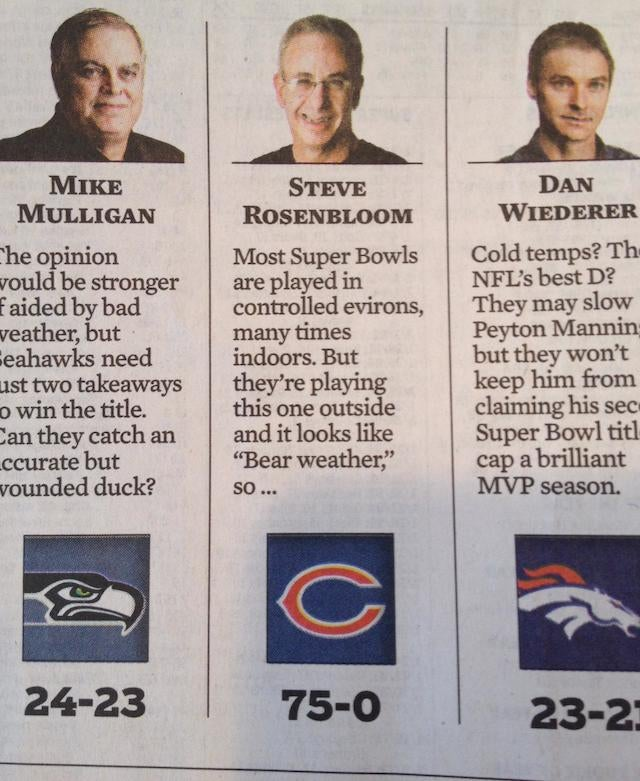 Chicago Columnist Picks Bears To Win Super Bowl
