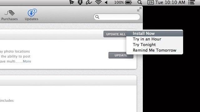 Set OS X Mavericks to Update Software When You Want
