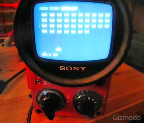 Space Invaders Clock Made From an Old TV and Propeller Chip