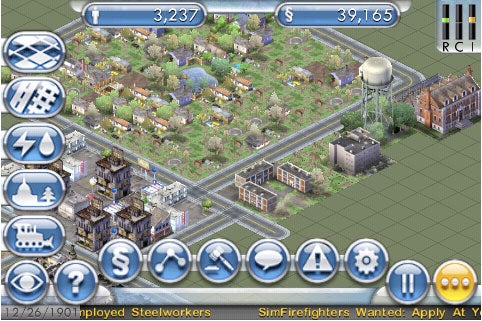 SimCity iPhone Impressions