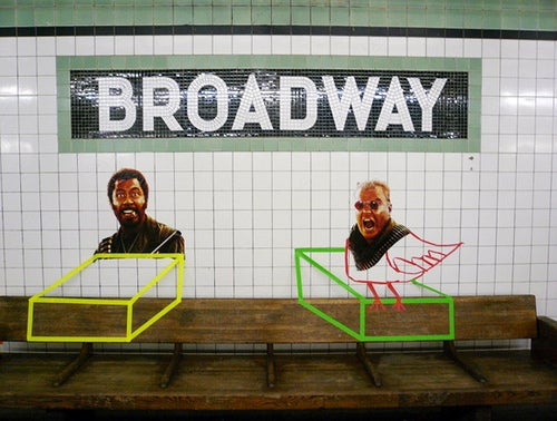 Poster Boy Gets Profiled for Subway Mashups