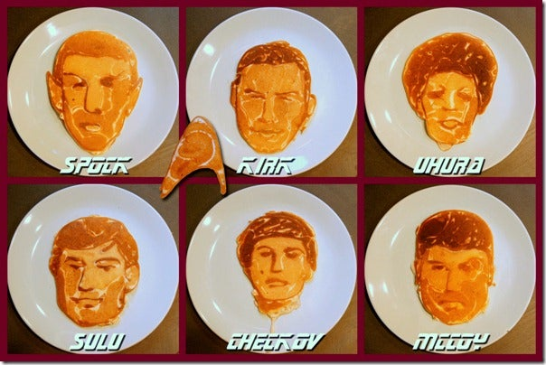 Star Trek portrait pancakes will go where many pancakes have gone before