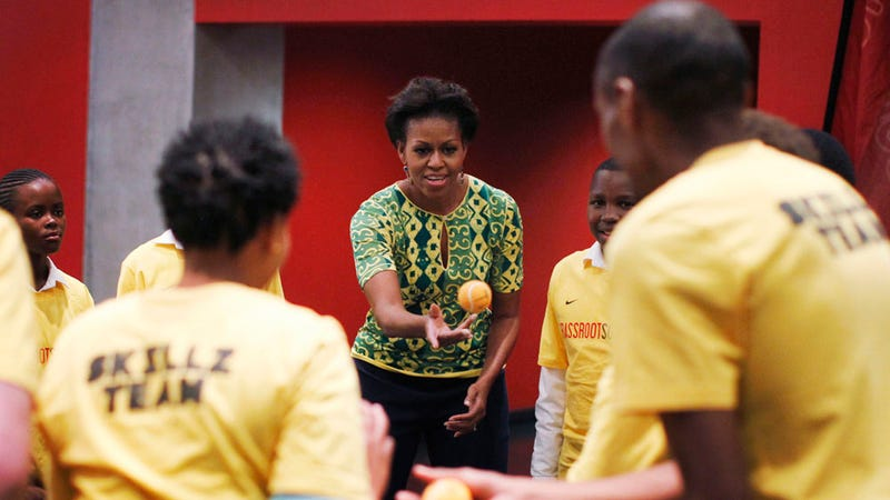 Michelle Obama Will Not Rest Until Every Child in the World Is Exercising