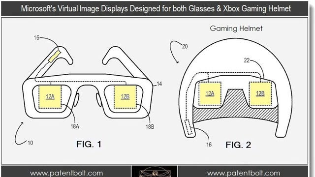 Microsoft Working on a Gaming Helmet, Glasses