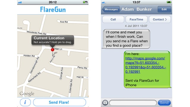 FlareGun Sends a Google Maps Location by Text (and You Don't Even Have to Be In Distress to Use It)