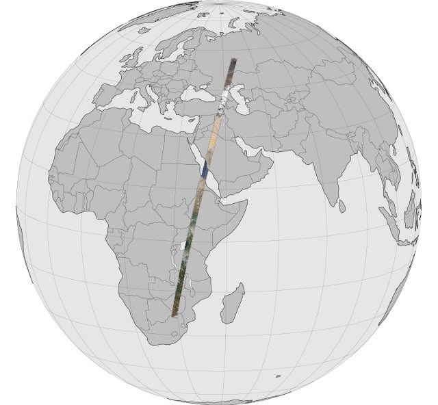 The longest continual satellite scroll of Earth you will ever see