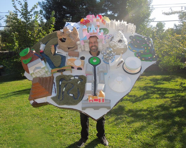 This man is dressed as Disneyland — ALL OF IT